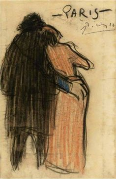 Pablo Picasso, Paris, 1916 by martha Pablo Picasso Drawings, Picasso Paintings, Picasso Art, Picasso Images, Spanish Painters, Spanish Artists, Guernica, Famous Artists, Great Artists