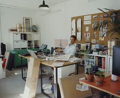 illustrator Jean Jullien's London workspace
