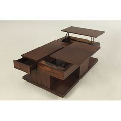 Found it at AllModern - Kings Coach Coffee Table with Double Lift-Top