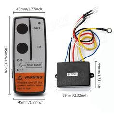 50ft Wireless Winch Remote Control Kit For Jeep ATV SUV UTV 12V Switch Handset Sale-Banggood.com