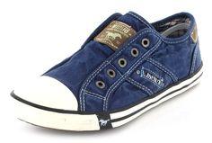 MUSTANG HERREN TREND SNEAKER SCHUH JEANS BLAU NEU 40-45 ! 360 GRAD ANSICHT ! in Kleidung & Accessoires, Herrenschuhe, Turnschuhe & Sneaker | eBay