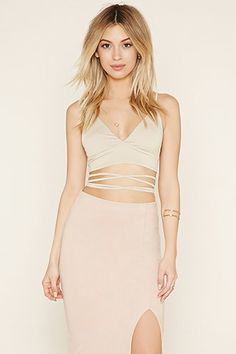 Strappy-Waist Cropped Cami