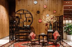 Trang trí Tết Nguyên Đán - Trang trí năm mới - Traditional Vietnamese Lunar New Year 2019 - Bliss Decor Vietnam Chinese New Year Decorations, New Years Decorations, Festival Decoration, Chinese New Year Design, Chinese Style, Asian Room, Party Layout, Asian Decor, Asian Interior