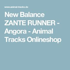 New Balance ZANTE RUNNER - Angora - Animal Tracks Onlineshop