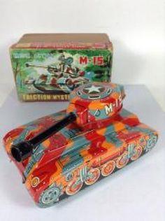 Rare Yoshino Vintage Tin Toy M-15 Tank 1960's Made In Japan 258 #Yoshiya