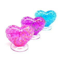 Table Decoration 3D Love Heart Crystal Puzzle Jigsaw Model Diy Intellectual Toy Gift Furnish Gadget >>> Want to know more, click on the image.