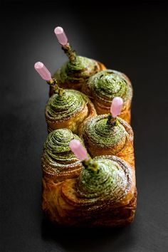 Brioche au Thé Vert et Sakura Cherry Blossom by  Pâtisserie-Chocolaterie by POP