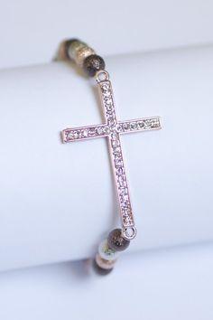 Rose Multi Side Cross Bead Bracelet for $7!