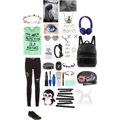 by brianna4481 on Polyvore featuring polyvore, fashion, style, 5 Preview, Converse, Elizabeth and James, Kiel Mead Studio, Kate Spade, NLY Trend, TOMS, ASOS, Ileana Makri, Wildfox, LAUREN MOSHI, Accessorize, Wet Seal, Maybelline, NARS Cosmetics, Trish McEvoy, Amici Accessories, Magis and Beats by Dr. Dre