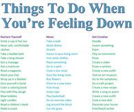 Things To Do When You're Feeling Down