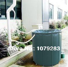 50L tambor de chuva compressível coleta irrigação de água de chuva no jardim balde dobrável alishoppbrasil Water Irrigation, Rain Barrel, Lawn Care, Housekeeping, Eco Friendly, Home And Garden, Organization, Water Bucket, Outdoor