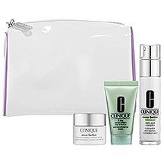 Clinique - Uneven Skin Tone Solutions Kit  $49.50  Even Better Clinical Dark Spot Corrector  Even Better Tone Correcting Moisturizer SPF 20  7 Day Scrub Cream Rinse-Off Formula