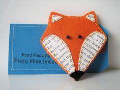 Mr Fox Hand Stitched Felt Brooch £7.50