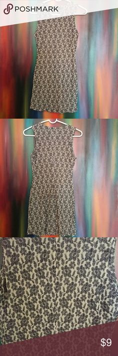 Guess Dress Black & cream floral design sheer sleeveless dress. Size Small; Made in USA; 70% rayon & 30% nylon. Good condition. No spots some minor pulls but not noticeable. Guess Dresses Mini