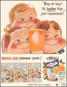 Birds Eye Orange Juice 1950