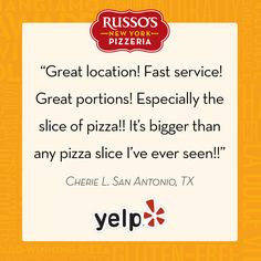 We're glad you had a wonderful experience, Cherie! #RussosReview