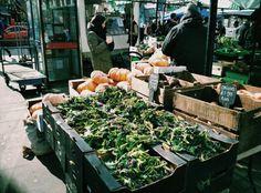 Weekend market, fresh vegetables, London, UK