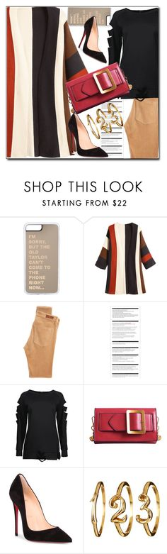 """So cute: Cardigan"" by sabinn ❤ liked on Polyvore featuring AG Adriano Goldschmied, Arche and Christian Louboutin"