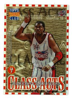 HAKEEM OLAJUWON CLYDE DREXLER Stadium Club Class Acts MINT FROM PACK #HoustonRockets