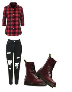 """""""#14"""" by sandrusia-kamratowska on Polyvore featuring Topshop and Dr. Martens"""