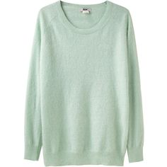 Acne Ry Angora Pullover ($250) ❤ liked on Polyvore featuring tops, sweaters, shirts, jumpers, women, long sleeve sweater, green pullover sweater, crewneck sweaters, crew neck long sleeve shirts and green sweater