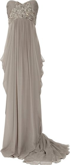 Marchesa Silk-Crepe Strapless Gown - absolutely gorgeous!