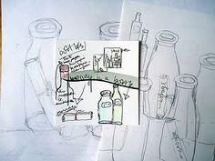 mano's welt: drawing challenge: bottles (1)
