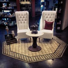 Tufted Chairs and End Table