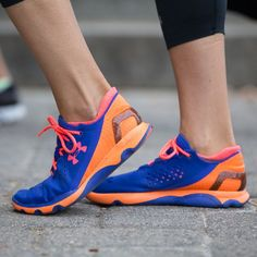 The UA SpeedForm® Apollo destroys the rules of footwear construction. (And the colors are cute too!) #SportabellaLove