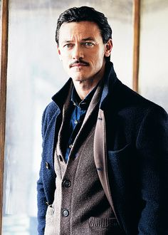 """ Luke Evans by Neil Gavin. """