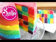 Sallys Blog - Regenbogen-Torte im Ombré-Look