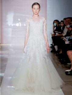 Vers van het catwalkplankier: twintig adembenemende designer-trouwjurken (Vera Wang! Marchesa! Jenny Packham...