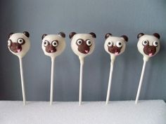PUG cake pops! I know all the pug owners would loooove these