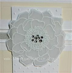 Stamp and Stretch: Vellum Embossed Blended Bloom