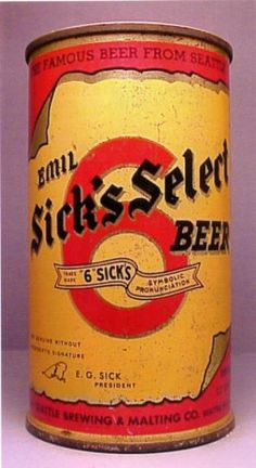 Emil Sick's Select Beer Can ,Seattle, WA ~ c.1958