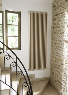 Vertical column radiators - we don't waste space in our house. The sequel. Contemporary Radiators, Traditional Radiators, Vertical Radiators, Column Radiators, Kitchen Radiators, Lounge Colour Schemes, Decorative Radiators, Entryway Stairs, Shops