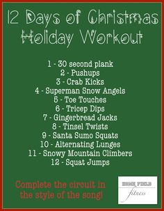 12 Days of Christmas Workout from Home Field Fitness