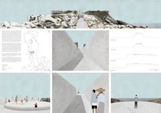 Architecture: Get inspired by this minimalist drawings. Architecture Collage, Architecture Visualization, Architecture Board, Architecture Student, Landscape Architecture, Landscape Design, Architecture Design, Architecture Diagrams, Architecture Portfolio
