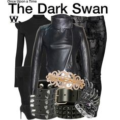 Inspired by Jennifer Morrison as The Dark Swan on Once Upon a Time.