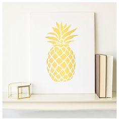 black gold pineapple home decor gold fruitfoxmirrorvintage