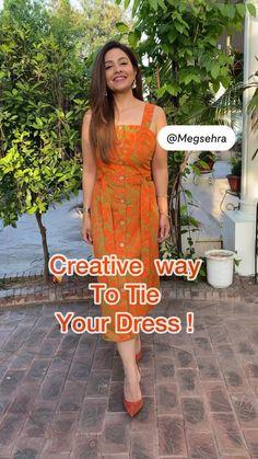 Diy Belt For Dresses, Stylish Dresses For Girls, Stylish Dress Designs, Designs For Dresses, Diy Dress, Dress Indian Style, Indian Fashion Dresses, Indian Designer Outfits, Teen Fashion Outfits