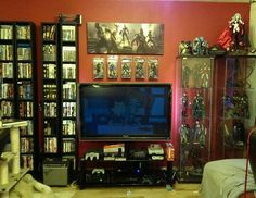 All these game rooms on the internet look freaking fantastic. My game room is like a crappy old tv and one shelf of games. Yeah.