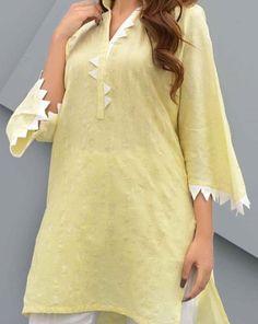 Kurti Sleeves Design, Sleeves Designs For Dresses, Neck Designs For Suits, Kurta Neck Design, Dress Neck Designs, Sleeve Designs, Pakistani Fashion Casual, Pakistani Dress Design, Pakistani Dresses