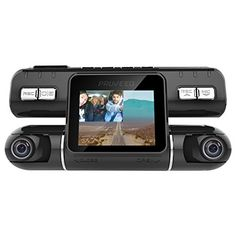 2.5 LCD High Capacity Storage Official HD Mirror Cam 720P HD Night-Mode Dashboard Camera Video Recorder with 16GB Micro SD Card Motion Detection Loop Recording As Seen on TV Dash Cam 350/°