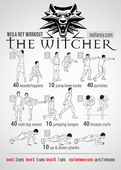 Ah - where video games meet fitness.  My happy place.  Neila Rey's Witcher Workout