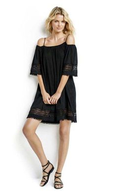 Seafolly UK Lace Hem Smock Dress is a off the shoulder beach dress, featuring a thin strap and off shoulder arms which can be pulled up to protect you from sun! Beachwear Fashion, Beachwear For Women, Short Beach Dresses, Swimwear Sale, Seafolly, Smock Dress, Designer Dresses, Lace