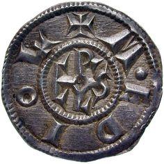 Fränkisches Reich. Münzstätte Mailand. Karl der Grosse (768-814). Denar (2. Periode 781-800). n. Chr. 781 - 800. Ø 2,13 cm 1,7 g. Silber.