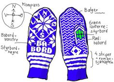 tegning Mittens, Gloves, Socks, Winter, Compass, Fingerless Mitts, Winter Time, Fingerless Mittens, Sock