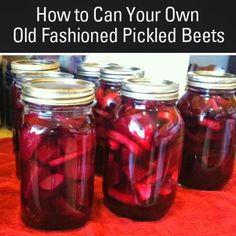 Canning Old Fashioned Pickled Beets. I think I'll plant a BIG patch of beets and carrots next year! Canned Pickled Beets, Canning Beets, Canning Pickles, Canning Vegetables, Ball Recipe For Pickled Beets, Old Fashioned Pickled Beets Recipe, Beet Jelly Recipe With Jello, Canned Red Beets Recipe, Canning Salsa