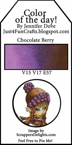 and DoveArt Studios: Chocolate Berry - Color of the Day 91